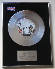 COLDPLAY - Violet Hill Platinum Single Presentation DISC